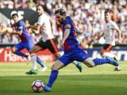 : 3:2 bei Valencia: Messi rettet Barça-Sieg in letzter Minute