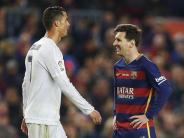 Messi trifft suf Ronaldo: 265. Clásico: Barça gegen Real unter großem Druck