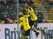 Aubameyang trifft doppelt: Zauberhaftes Trio: BVB verschärft mit 4:1 Gladbacher Krise