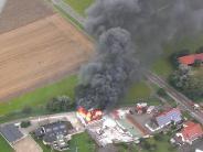 Großbrand: Riesige Rauchsäule über Günzburg