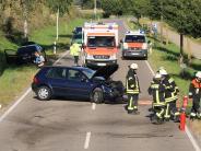 Landkreis Günzburg: Schwere Kollision fordert zwei Verletzte