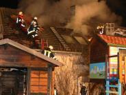 Kreis Günzburg: Flammen greifen von Gartenhütte auf Wohnhaus über