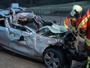 Autobahn 8: Ein Auffahrunfall mit schwerwiegenden Folgen