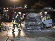 Jettingen-Scheppach: Fahrzeug brennt komplett aus