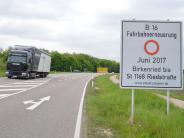 Günzburg: Vier Wochen Vollsperrung auf der B16