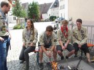 Burgau: Selbstständigkeit und Stockbrot
