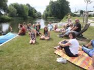 Landkreis Günzburg: Picknick am neuen Offinger Mindelstrand