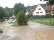Kammeltal: Unwetter überflutet die Staatsstraße