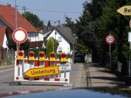 Harthausen: Wasserrohrbruch: Die Ortsdurchfahrt von Harthausen ist gesperrt