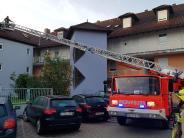 Burgau: Wohnanlage in Burgau brennt