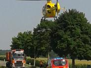 Kreis Günzburg: Zwei schwere Unfälle mitMotorrädern