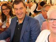 """Breitenthal: Ein weißblaues """"Heimspiel"""" für Markus Söder"""