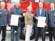 Feuerwehr: Ehrungen für Firmen