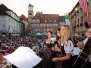 Memmingen: Party auf Marktplatz