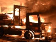 Ulm: Großbrand in Ulmer Sägewerk