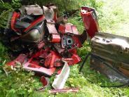 Kirchhaslach: 51-Jähriger zerstückelte Fahrzeug