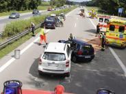 Verkehr: Sechs Verletzte bei Auffahrunfall auf der A7