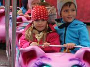 Babenhausen: Im Schweinchenexpress durch den Fuggermarkt