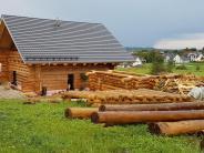 Oberroth: Ganz schön viel Holz für die Hütte