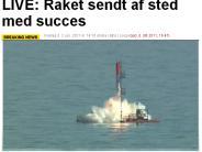 Heat-1X und Tycho Brahe: Rakete aus Dänemark startet erstmals in Richtung Weltraum