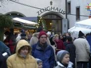 Augsburg: Die Weihnachtsinsel vor dem Augsburger Zeughaus  2015