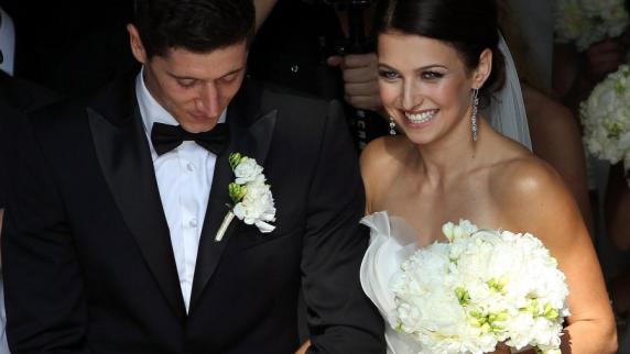 Robert Lewandowski with beautiful, Wife Anna Stachurska