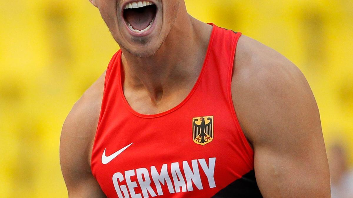 Leichtathletik-WM 2013: <b>Michael Schrader</b> mit historischem Zehnkampf-Silber ... - Michael-Schrader-Zehnkampf-Leichtathletik-WM-Moskau