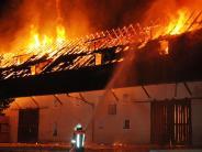 Scheyern: 200 Feuerwehrleute kämpfen gegen Großbrand