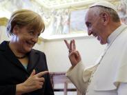 Verärgerte Kanzlerin: Papst Franziskus berichtet über Anruf von Angela Merkel