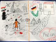 Passau: Syrisches Flüchtlingskind schenkt Bundespolizei schockierendes Bild