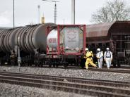 Ulm: Chemikalie an Ulmer Bahnhof ausgetreten - Bahnstrecke war gesperrt
