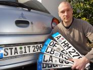 Kreis Augsburg: Petition: Ein Gersthofer kämpft gegen die Kennzeichen-Gebühr