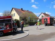 Kreis Donau-Ries: Wohnhaus brennt in Blossenau: 80.000 Euro Schaden
