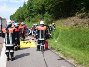 Illertissen: Mann bei Unfall auf der A7 schwer verletzt