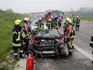 Autobahn A 8: Unfall auf A8 bei Leipheim: 28-Jährige überschlägt sich zweimal