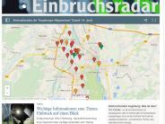 Interaktive Karte: Das aktuelle Einbruchsradar für Augsburg und Region