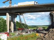 Unterfranken: Konstruktionsfehler brachte A7-Brücke bei Werneck zum Einsturz