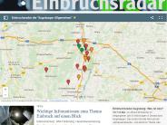 Region Augsburg: Aktuelles Einbruchsradar: Einbrüche in der Region auf einer Karte