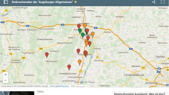 Tatorte: Interaktive Karte: An diesen Orten schlagen Einbrecher zu