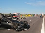 Kreis Günzburg: Verletzte bei Unfall: Vollsperrung auf A8 aufgehoben