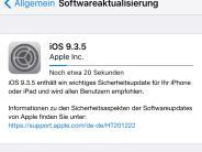 iOS 9.3.5 veröffentlicht: Spionage-Programm für iPhone entdeckt: Apple stellt Update bereit