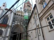 Augsburg: Der Nordturm des Augsburger Doms wird saniert