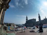 Feierlichkeiten in Dresden: Fund von Sprengsatz-Attrappe - In Dresden steigt die Nervosität