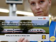 Lidl-Bahnticket: Lidl verkauft wieder Bahntickets zum Sonderpreis