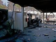 Lesbos: Flüchtlinge protestieren und zündeln im Lager Moria auf Lesbos