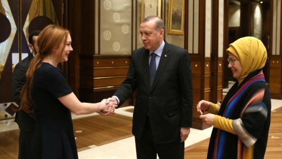 Türkei: Türkischer Staatschef Erdogan empfängt Lindsay Lohan