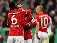 DFB-Pokal: FC Bayern spaziert ins Viertelfinale - Lahm will Karriere beenden