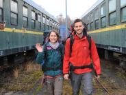 Porträt: Zwei Augsburger wollen mit der Bahn und per Anhalter nach Asien