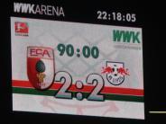FC Augsburg: Warum war das Logo von RB Leipzig auf der Anzeigetafel so klein?