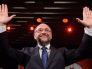 """SPD: Schulz gibt Jubel-Nachhilfe: """"Ihr könnt doch mal Martin rufen!"""""""